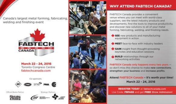 Fabtech Canada 2016 attend